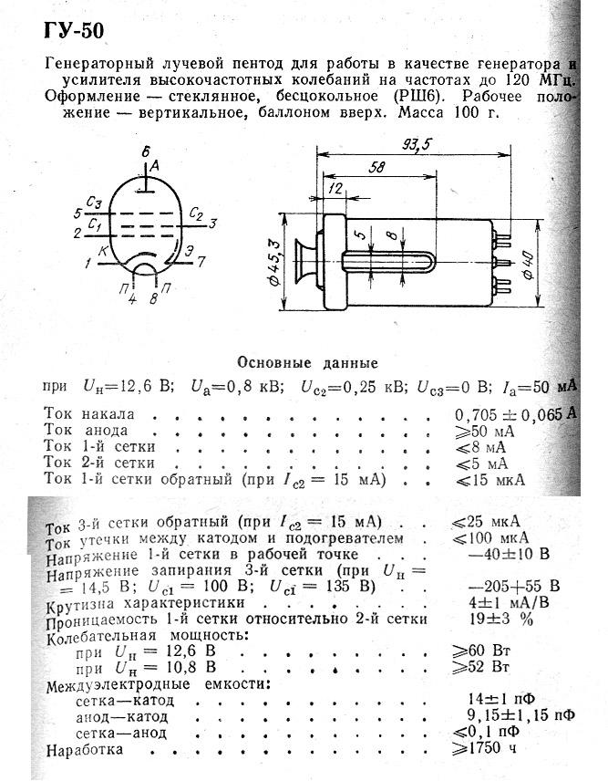 Усилитель мощности на ГУ-81М
